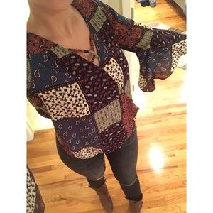 Peasant Top with Bell Sleeves